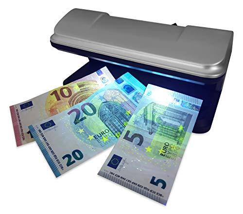 DIVADIS Verifica Banconote Finte con LED UV, Rilevatore Documenti di Identità e Carte di Credito