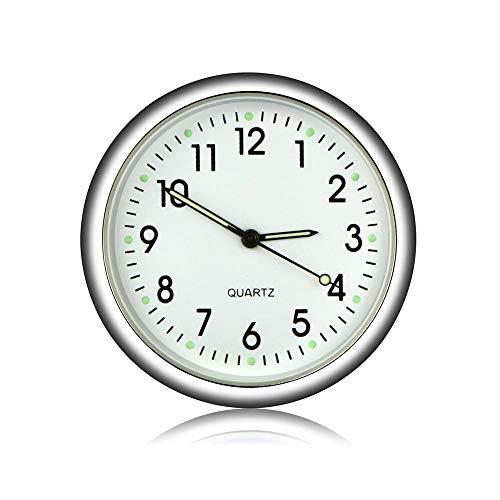 Volwco - Mini Reloj Luminoso para Coche con ventilación de Aire