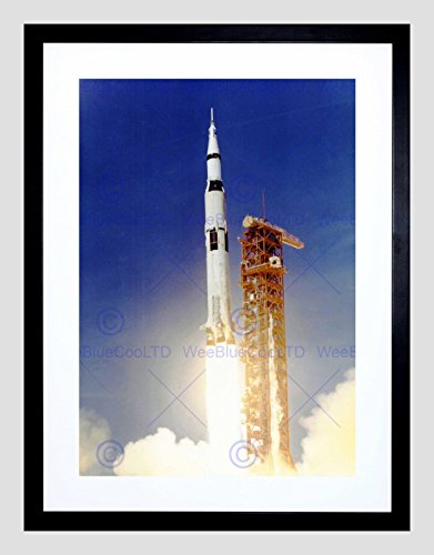 SPACE APOLLO 11 LAUNCH SATURN V ROCKET BLAST THRUST FLAME COOL PRINT B12X7763 (Apollo 11 Poster)