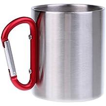 Gazechimp Tasse à Cafe Avec Poignée Mousqueton Camping Vaisselle Mug Randonnée Tasse Bière