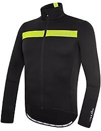 RH + Logo Thermo Jersey blafluoyel, camisetas (Ciclismo), Black–para hombre Yellow Fluo, XXL