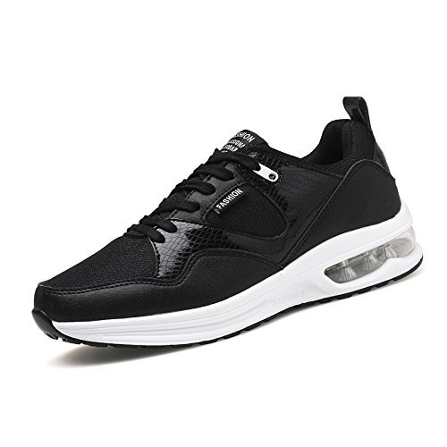 HYLM Primavera E Estate Il nuovo Cushioning Cushion Sport Scarpe Maschio e Femmina Coppia Tempo libero Lightweight Mesh Surface Outdoor Fitness Running Scarpe Black