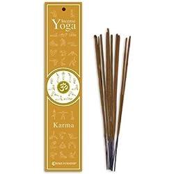 Fiore d'Oriente - Palillos de incienso Yoga Karma, 100% naturales, 10 unidades