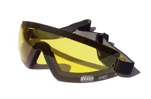 sorz Motorrad/Fallschirmspringen beschlagfrei bruchsicher Sicherheit goggles|yellow Objektiv