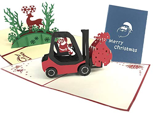 Pop-Up-Karten, Weihnachtsmann, Schlitten, Weihnachten, Schneemann, Rentier, Weihnachtsmann, Weihnachtsmann, Weihnachtsmann, Weihnachten, Pop-Up-Grußkarten, Tag Neujahr, Erntedankfest