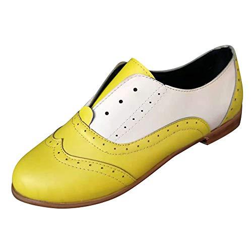 (MYMYG Pumps Kurzschaft Frauen Runde Zehe Flache Schuhe Leder Booties Slip-On quadratische Ferse Einzelne Schuhe Kontrastfarbe Einfarbige Ankle Booties Kurz Stiefeletten Low Stack Chelsea Stiefel)