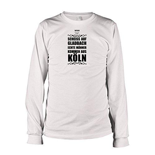 TEXLAB - Scheiss auf Gladbach - Langarm T-Shirt Weiß