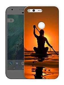 "Humor Gang kayak life Printed Designer Mobile Back Cover For ""Google Pixel"" (3D, Matte Finish, Premium Quality, Protective Snap On Slim Hard Phone Case, Multi Color)"