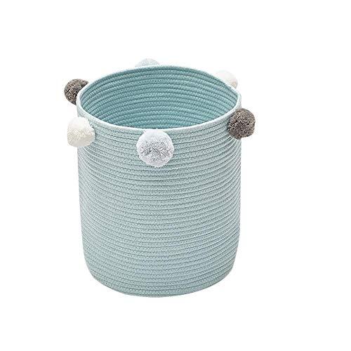 Zexa Extra große Ablagekorb, Monochrome Baumwolle Seilkorb Faltbare Geflochtenen Korb für Wäsche, Spielzeug Lagerung - dekorative, Gewebte Baumwollseil, Premium-Qualität