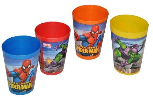 Unbekannt 1 Stück Amazing Spider-Man - 3 in 1 - Trinkbecher / Zahnputzbecher / Malbecher - Becher Trinkglas Spiderman Spider Man
