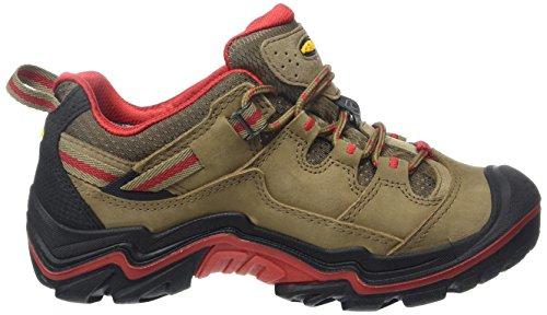 Keen  DURAND LOW WP W, Chaussures de randonnée femme Marron (Shitake/Racing Red)