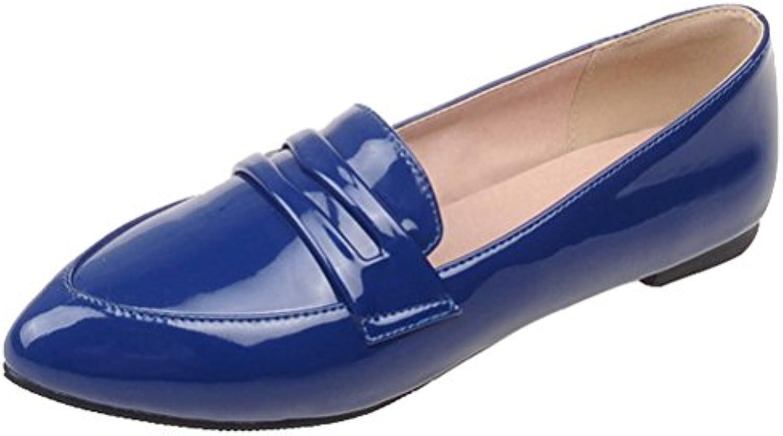 HiTime - Zapatilla Baja de Charol Mujer, Color Azul, Talla 43 EU