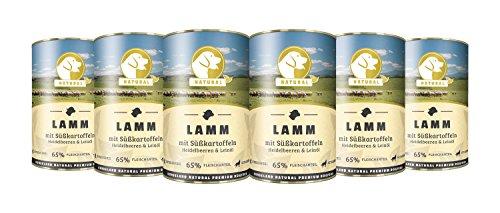 Hundeland Natural   Lamm + Süßkartoffeln   6 x 400 g   getreidefreies Hundefutter   Nassfutter für alle Hunderassen   viel frisches Fleisch   artgerecht & besonders gut verträglich