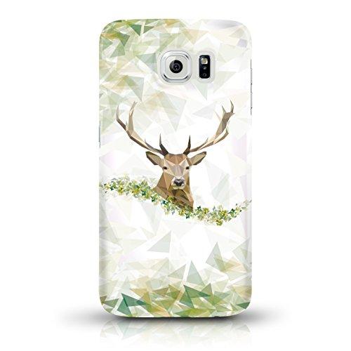"""JUNIWORDS Handyhüllen Slim Case für Samsung Galaxy S6 - Motiv wählbar - """"Majestätischer Hirsch"""" - Handyhülle, Handycase, Handyschale, Schutzhülle für Ihr Smartphone Hirschportrait"""