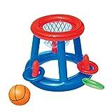 Ailyoo Panier de Basket-Ball de l'eau avec la Boule, Cerceau Flottant Gonflable...
