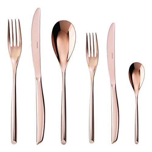 Rosenthal Sambonet Besteck-Set - 24tlg. - Bamboo - Edelstahl/PVD Kupfer (Bamboo Sambonet)