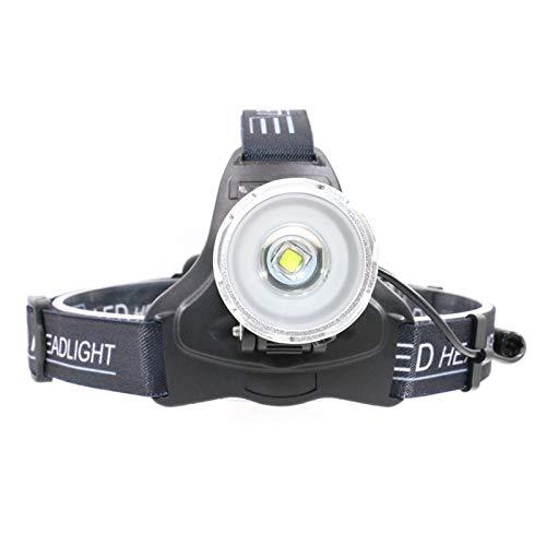 Lampade Da Testa 6000 Lm Luminosità Xml L2 Led Proiettore 2-Mode Light Sensor Usb Ricaricabile Zoomable Headlight