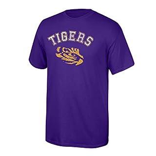 Elite Fan Shop NCAA LSU Tigers Team Vintage T Shirt, Small, Purple