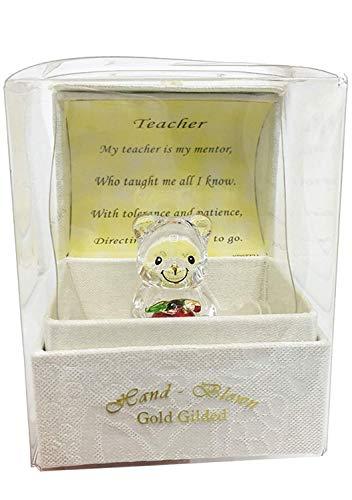 Teddy Bear Ist Geschenk Box - LEHRER Geschenk Glas Taddy Bear Gedicht