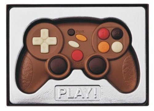 CHOCOLATE EN FORMA DE MANDO DE CONSOLA. REGALO ORIGINAL PARA AMANTES DEL CHOCOLATE Y DE LOS VIDEO JUEGOS.