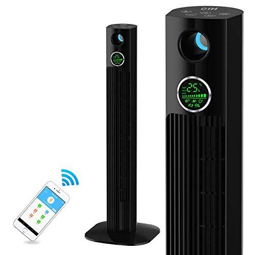 XI FAN Ventilador del acondicionador de Aire, Ventilador de Torre oscilante con Control Remoto y WiFi...