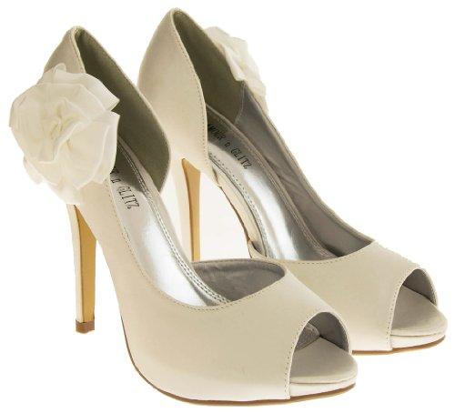 Glamour N Glitz Bout Ouvert Femmes - Ivory White