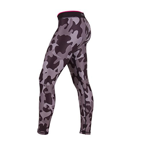 Gorilla Wear Women's Camo Tights – Black/Gray, S - 3