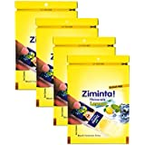 Ziminta Sugar Free Mint Mouth Freshener Easily Soluble Digestive Dispensable Strip - 30 Strips (Lemon Flavour) - Pack of 4