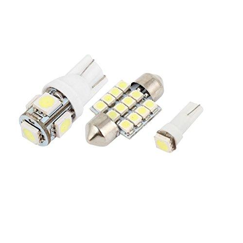 sourcingmap® 12Stk Weiß LED Kuppel Lichter Innenraum Paket Kit Für Toyota Camry 2000-2001 de (2001 Toyota Camry Lichter)