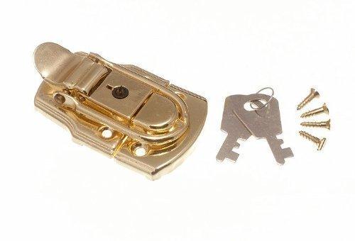 Schließkasten Schließe Toggle Befestigung Trunk Catch & 2 Schlüssel 72mm x 45mm Eb ( Pck 2)