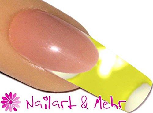 De 2 Färbiges acrylique de poudre 5 g, 2tones-24 Blanc/Jaune Fluo – envyu : # 2T pour la Rapide mais joli Nail Art