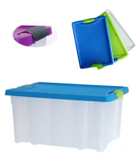 LS XL Stapelboxen Allzweckkiste mit Deckel stapelbar Allzweckbox Box Kiste Aufbewahrungsbox 40x28,5x20cm 22 Liter groß