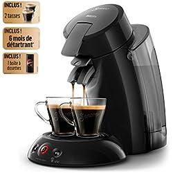 Philips HD6555/23 Machine à café dosettes SENSEO Original XL Noir + 2 tasses + 1 détartrant + 1 boîtes à dosettes