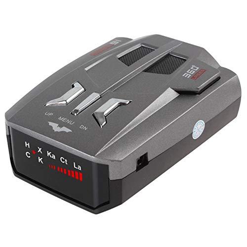 Radarwarner Einzelne Anzeige Fahrzeug mobile Tachometer 360-Grad-Geschwindigkeit Auto Anti-Radar Voice Alarm Warnung 16 Gruppen automatische LED-Anzeige