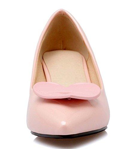 Scarpe Da Nudo Scarpe Basse In Bocca Bassa Shallow Boots In Pelle Scarpe Da Brevetto Scarpe Singole Scarpe Casual Scarpe Pink
