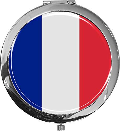 Miroir de poche/Drapeau la France/Double agrandissement