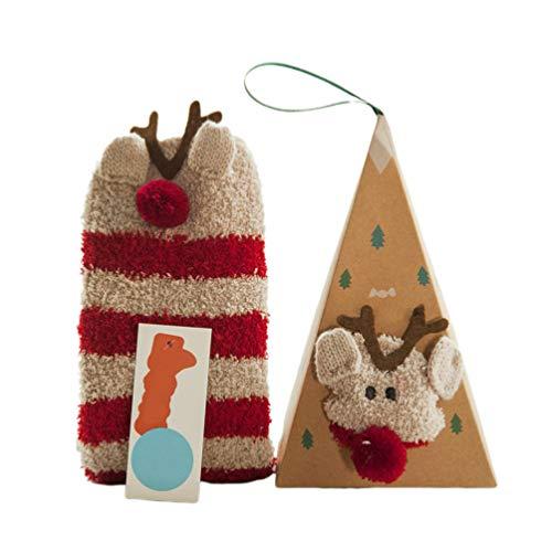 Toyvian 2 Pares Calcetines Antideslizantes Navidad