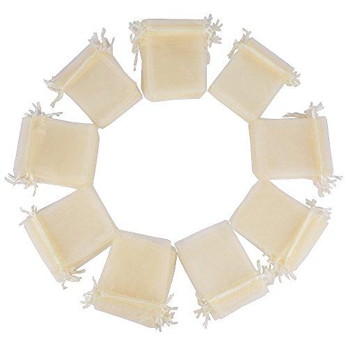 (10*12cm) 100 pz sacchetti avorio bustine buste in organza regalo bomboniere per matrimonio festa confezione gioielli
