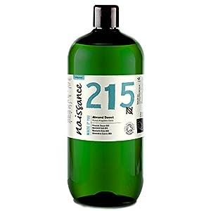 Naissance Mandelöl süß BIO (Nr. 215) 1 Liter (1000ml) – 100% rein & natürlich, BIO zertifiziert, kaltgepresst, vegan, hexanfrei, gentechnikfrei Ideal für Massagen, Haut- und Haarpflege.