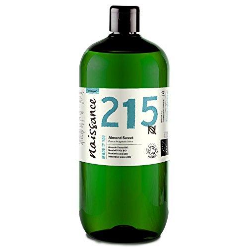 Naissance Aceite de Almendras Dulces BIO n. º 215 1L Puro, natural, c