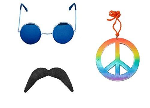 seemeinthat Hippie-Set, Oder Peace Loving Hippie-Festival-Set. Ein Muss für die Saison und Ihre Hippie-Party Nacht Sie können Dieses Set für Ihr Kostüm Oder Verwenden Sie es als Stand Alone Set.
