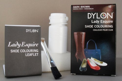 Dylon Shoe Colour Dark Brown Fast Postage