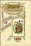 Inventaire de la Guyane française en 1900