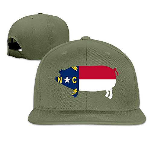 North Carolina BBQ Barbeque Capital Hip Hop Flat Caps Ash White -