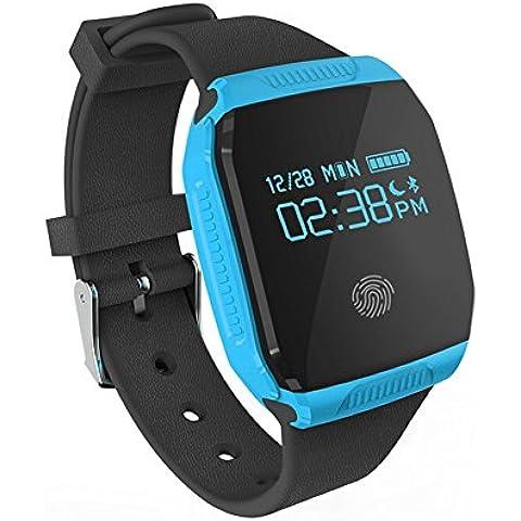 Ai reloj impermeable natación deportes reloj sincronización para LG/Samsung/Huawei/Xiaomi/iPhone IOS Android teléfono celular, color azul