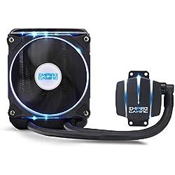 EMPIRE GAMING - Kit Watercooling PC AlO Gamer Empire Cooler 120 - Refroidissement Liquide - Ventilateur 120 mm PWN - CPU Intel et AMD - Compatible PC Gamer