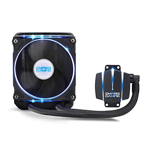 EMPIRE GAMING [NEUHEIT] Empire Cooler 120 - Watercooling-Kit PC AlO Gamer Wasserkühlung Lüfter 120 mm PWN CPU Intel und AMD -
