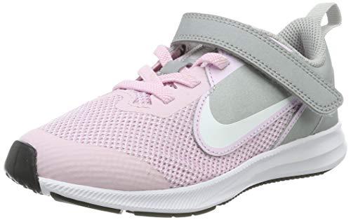Nike Downshifter 9 PSV, Zapatillas de Running Unisex Niños, Rosa Pink Foam/White/Mtlc Silver/Pure...