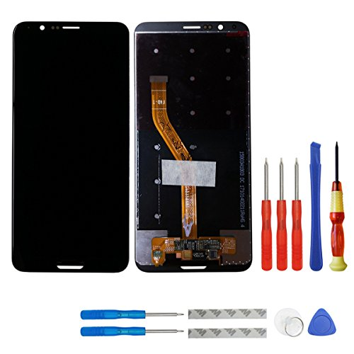 swark LCD Display Compatible with Huawei Honor V10 BKL-AL00 BKL-AL20/Honor View 10 Global BKL-L09 Ersatz Schwarz Touchscreen with Tools (Ohne Rahmen Without Fingerprint) Global 10