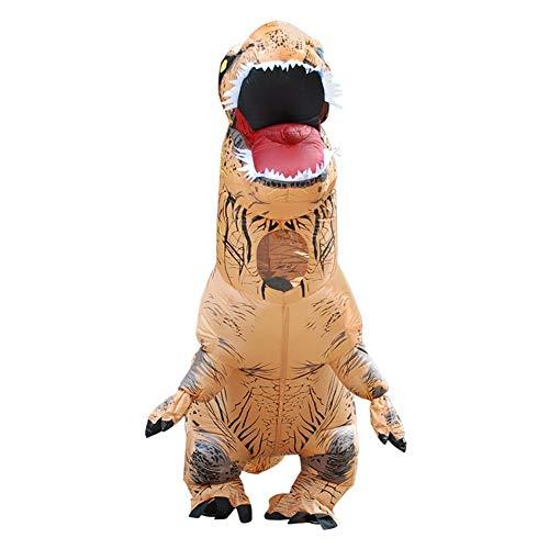 XPFF Halloween Dinosaurier Anzug, Tyrannosaurus Rex Drache Aufblasbare Kleidung Erwachsene Kinder Cosplay Cartoon Tier Puppe Kostüm (Color : H, Size : Adult) (Dinosaurier Puppe Kostüm)